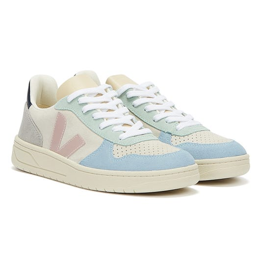Veja V-10 Suede Multico / Natural / Babe Trainers