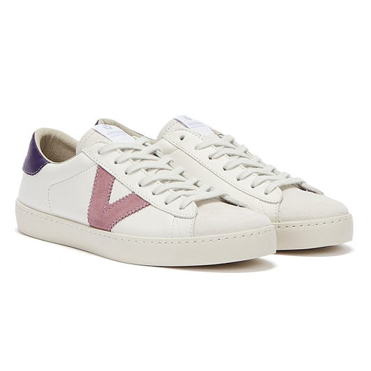 Victoria Berlin Contrast Leather Womens White / Purple Trainers