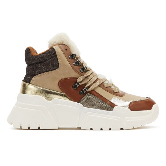 Victoria Totem Bota Womens Camel Tan Trainers
