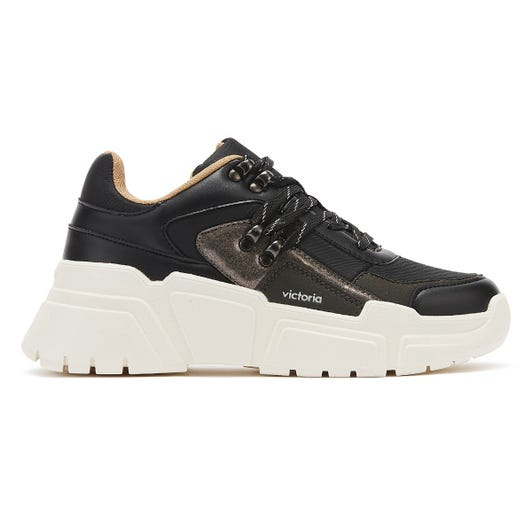 Victoria Totem Womens Black Trainers