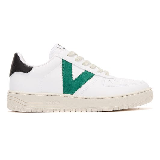 Victoria Siempre Contrast Vegan Womens White / Green Trainers