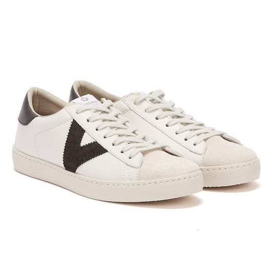 Victoria Berlin Contrast Leather Womens White / Black Trainers