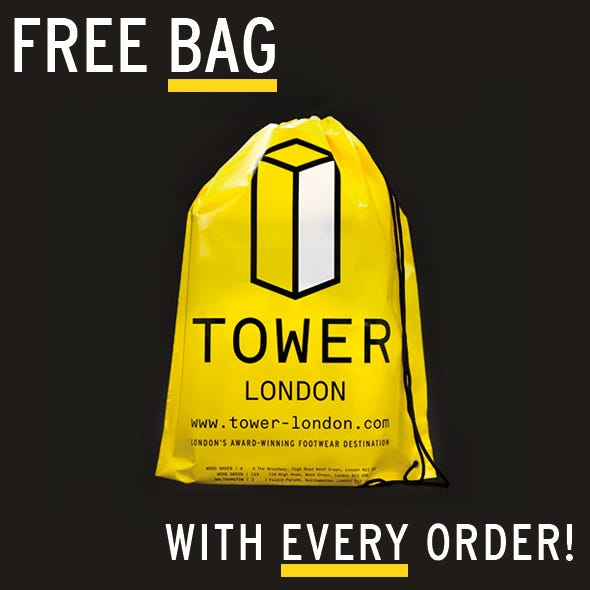 Free TOWER London Bag with Every Order