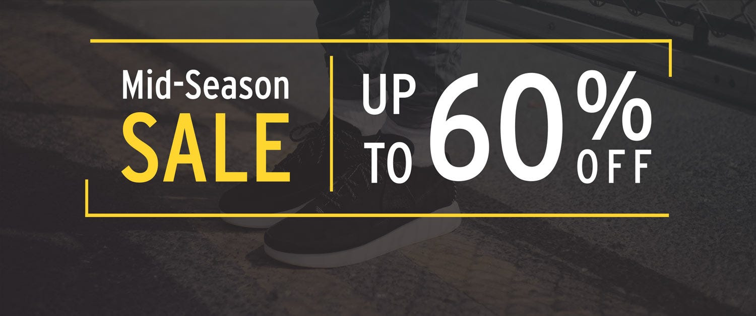 Mid Season Sale - Up to 60% off