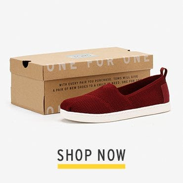 TOMS Youth Burgundy Mesh Classic Espadrilles