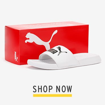PUMA Mens White Popcat Slides